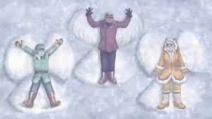 December wallpaper - Snow Angel Showoff