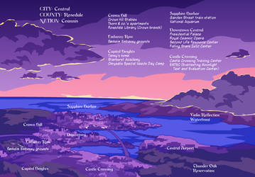 Sunset map of Central