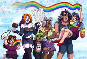 Webcomic Pride - Flaky Rainbow