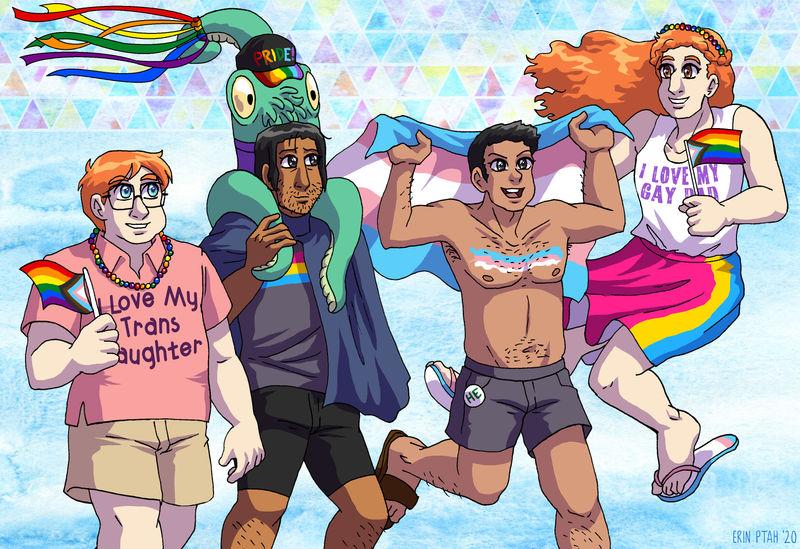 Webcomic Pride - The Future is Trans