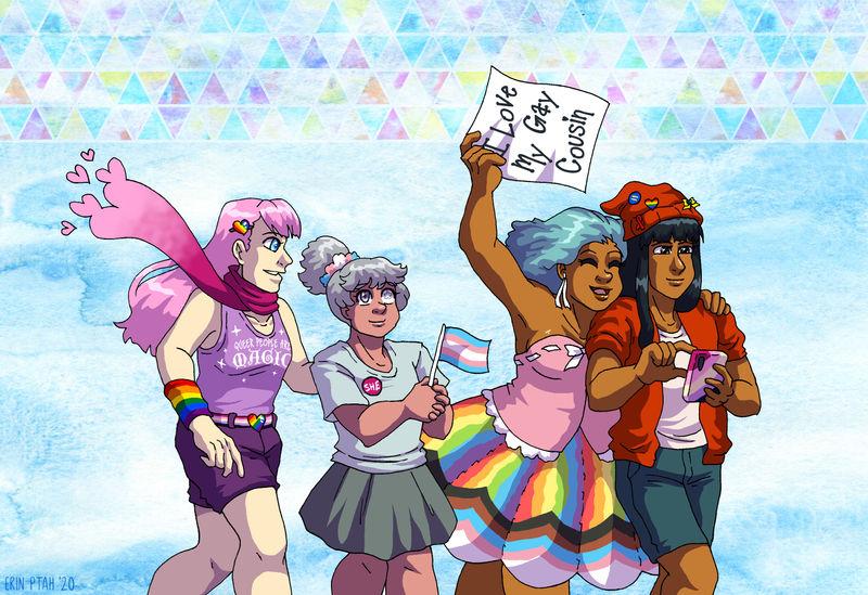 Webcomic Pride - Marching Mahous