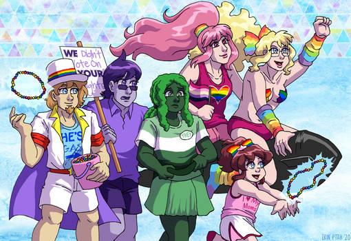 Webcomic Pride - Rainbows and Rockets