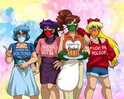 The Four Senshi of the Covidocalypse