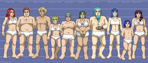 Character Height Chart VII (Leif and Thorn)