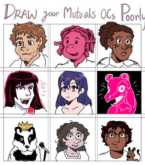 Scribble Your Mutuals' OCs With A Mouse