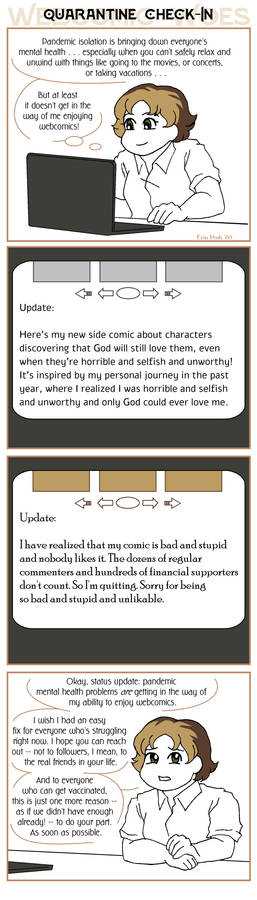 Webcomic Woes 33 - one year into isolation