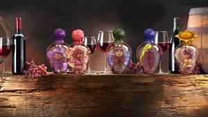 Wallpaper - Hunters in bottles