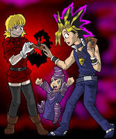 Dark Seras vs. Dark Yugi by ErinPtah