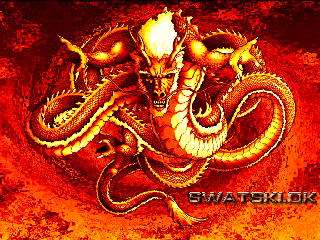 The Chinese Fire Dragon     by SwatskiRed Chinese Dragon Wallpaper