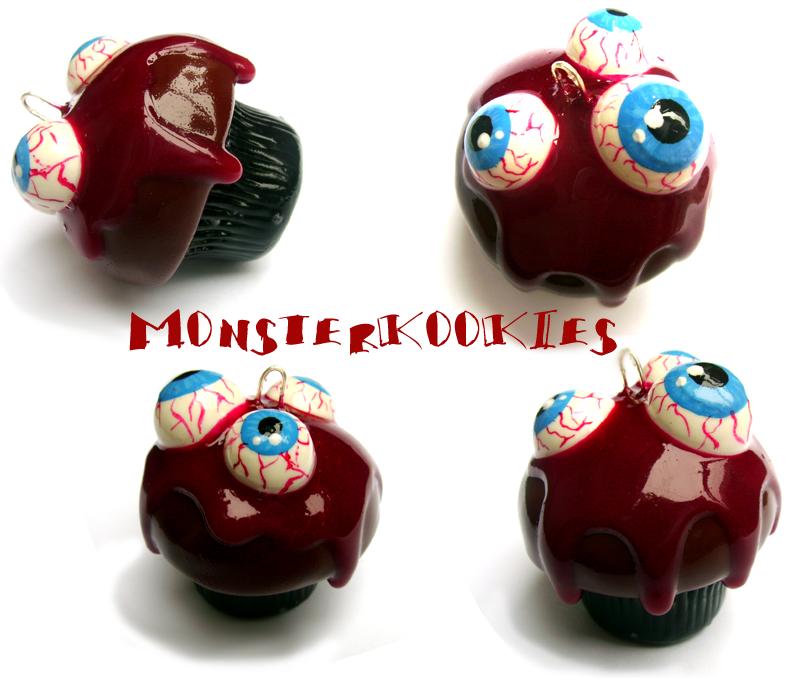 Eyeballs and Blood Cupcake by monsterkookies