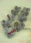 Flat Industrial Heart Pins