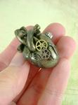 Antique Brass Anatomical Heart