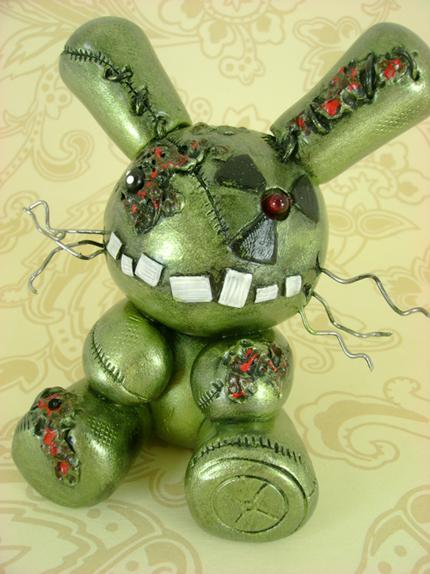Wyatt - Nuclear Zombie Bunny by monsterkookies