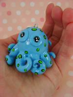 Cutesy Baby Blue Octopus by monsterkookies