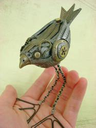 Nutmeg the Mechanical Birdie by monsterkookies