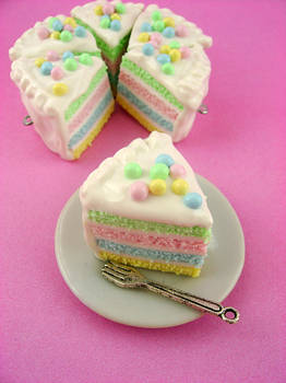 Soft Pastel Rainbow Cake