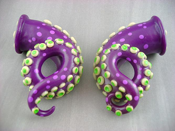 .75' Tentacle Gauges by monsterkookies