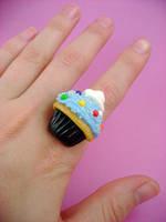 Bubblegum Cupcake Ring by monsterkookies