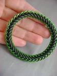Black and Green Stretch Bracelet