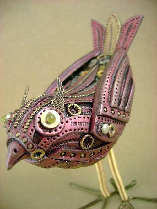 Freya the Mechanical Birdie by monsterkookies