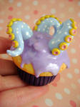 Giant Polkadotted Tentacle Cupcake