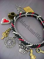 Alice In Wonderland Charm Bracelet by monsterkookies