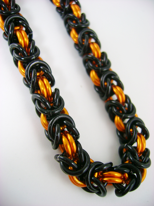 Black and Orange Byzantine by monsterkookies