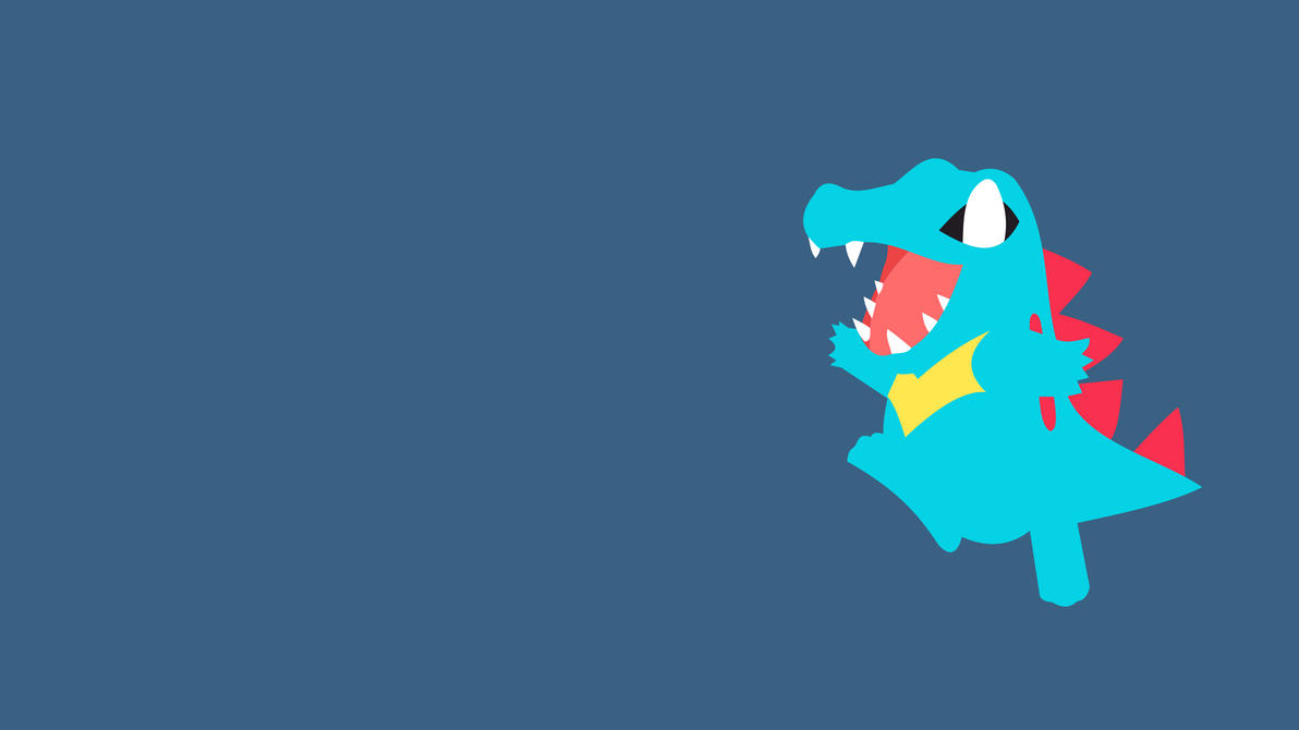 Totodile minimalist wallpaper pokemon by joxsilvereagle for Deviantart minimal wallpaper