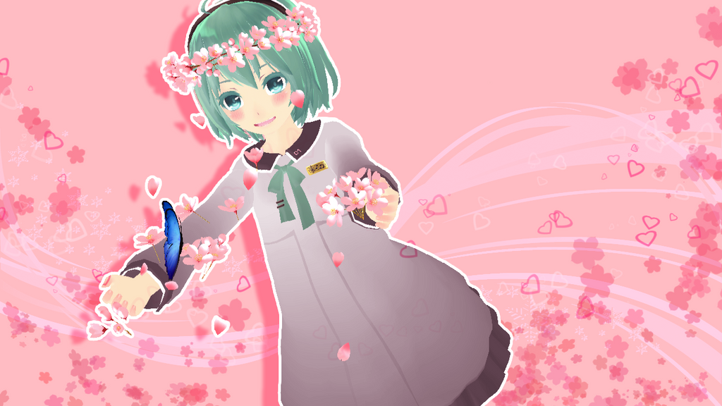 [MMD]Pink Blooming by alexa-blue-sky