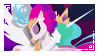 Princess Celestia x Queen Novo -Stamp- by DannyMoMochi