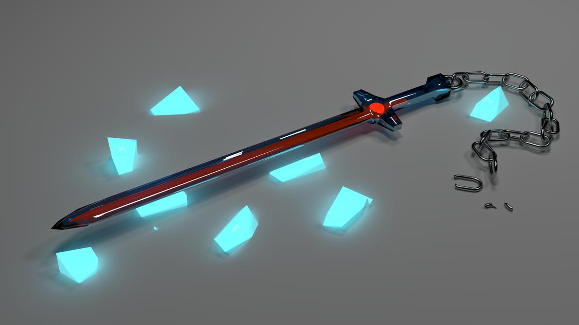 futuristic glass sword by cakespell on deviantart