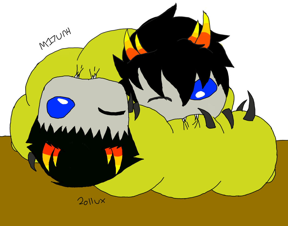 Sollux and Mituna Grubs by AshREvansMituna And Sollux