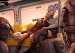 2b and 9s post shopping commute by Raphire