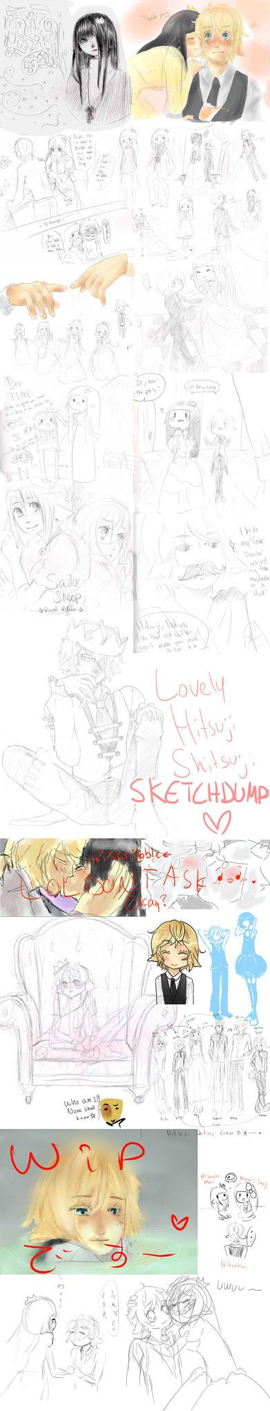 Hitsu Sketch Dump by Maari-Erein