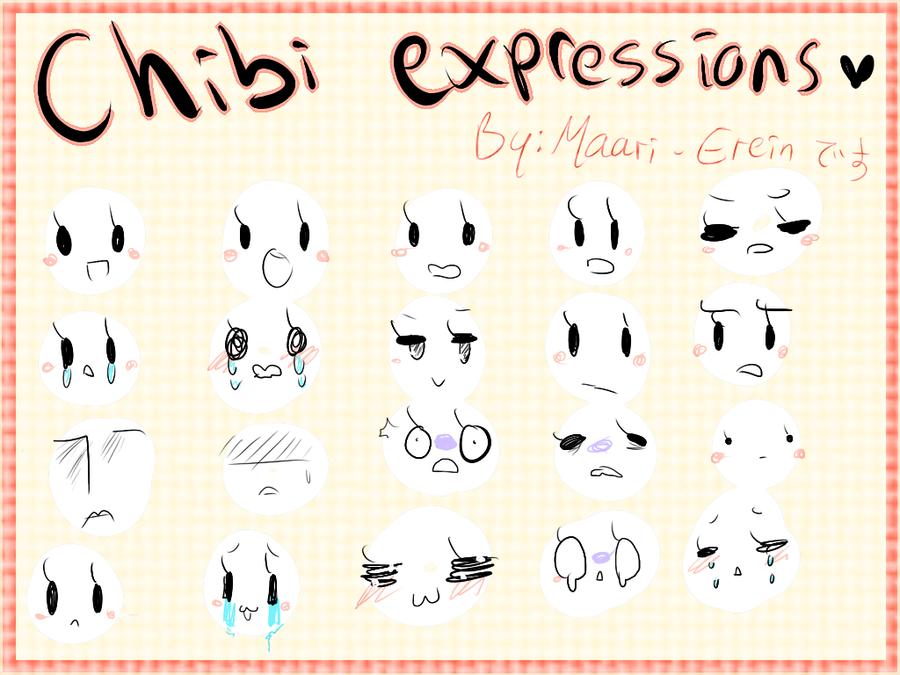 Chibi Eyes Expressions Chibi expressions by maari-Chibi Expressions