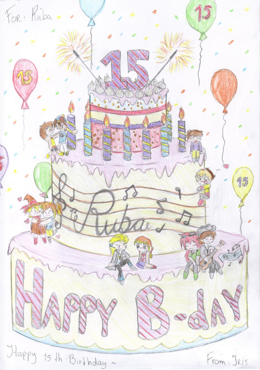 Happy 15th Birthday Ruba By Wiane On Deviantart