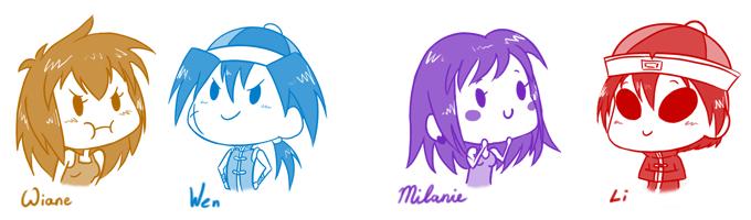 Mini characters by wiane