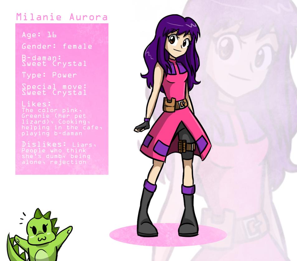 Milanie Aurora - B-daman info (5 year skip) by wiane