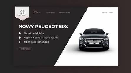 Peugeot landing page