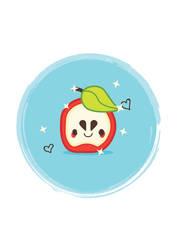 Kawaii apple face
