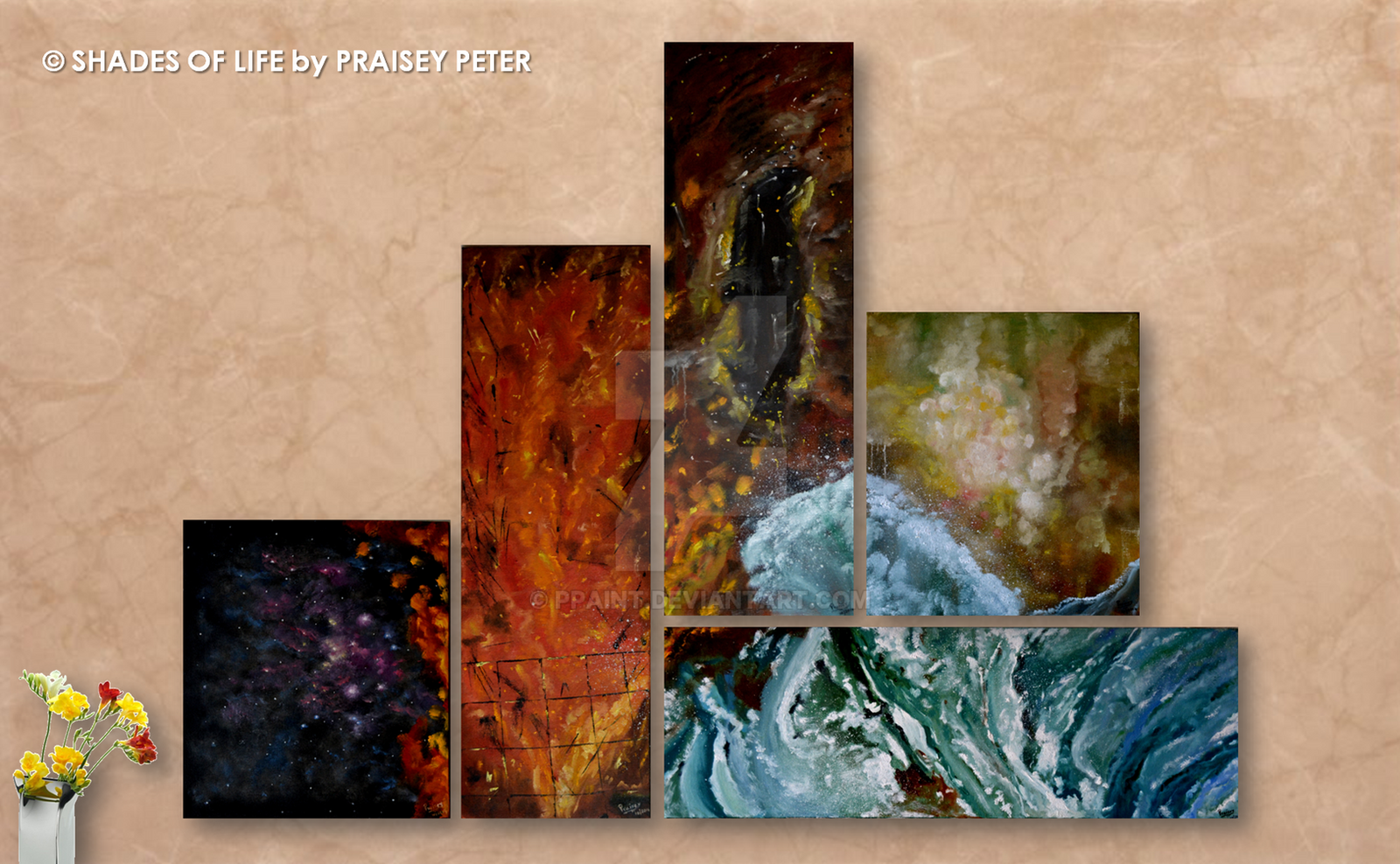Art Elements Of Painting : Elements of nature space fire earth air water by ppaint on