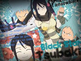 Black Star and Tsubaki by CHVampaiiaxInuzuka