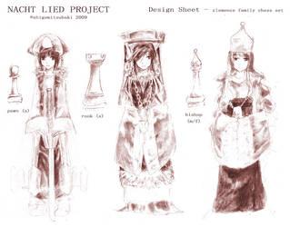 NL chessmen design sheet by shigemitsubaki