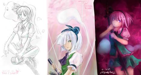3 way paintchat- Youmu by shigemitsubaki