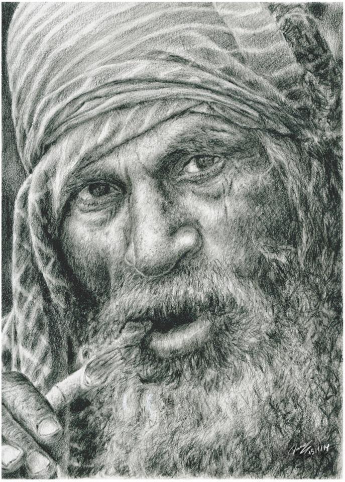 Indian old man by Ikanana