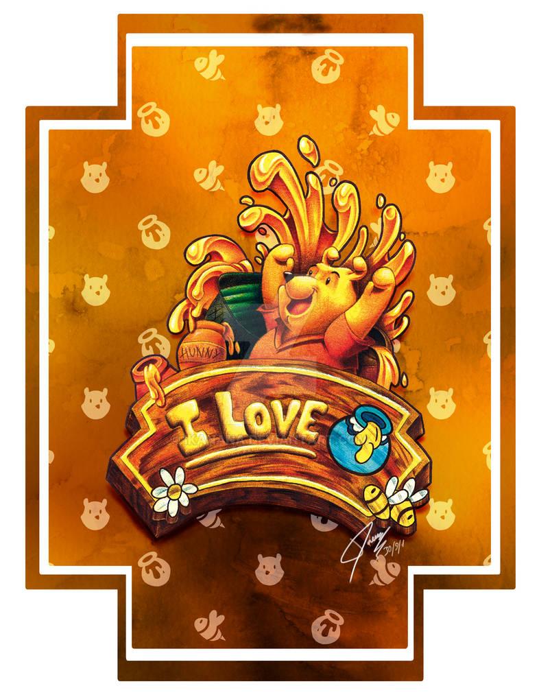 I love Hunny - Winnie the Pooh