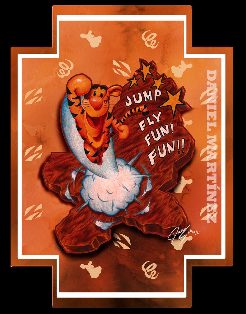 Jump, fly, fun! FUN!! - Tigger