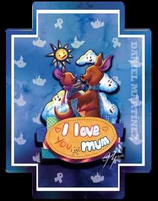 I love you mum - Kangoo and Rito by Ikanana