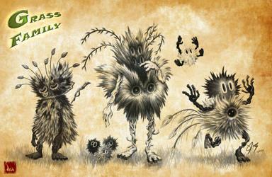 Grass family by Ikanana