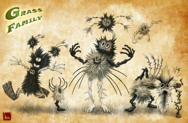 Grass Family 2 by Ikanana